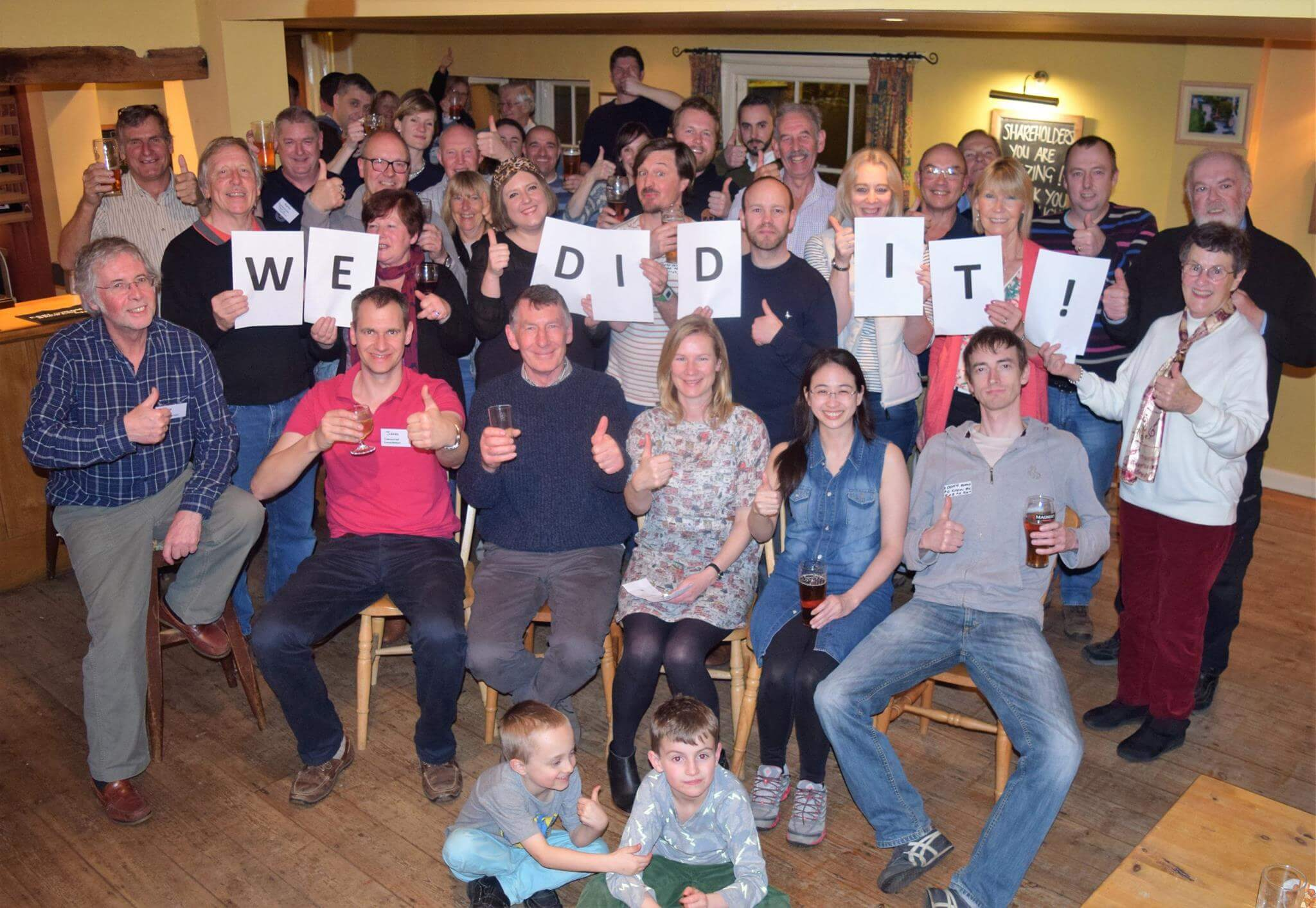residents of Somersham celebrate