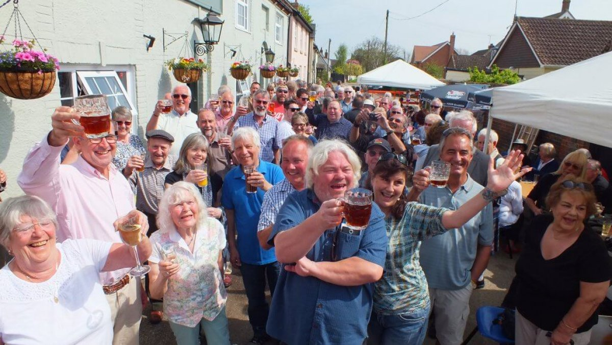 Celebrations at the Maybush Inn