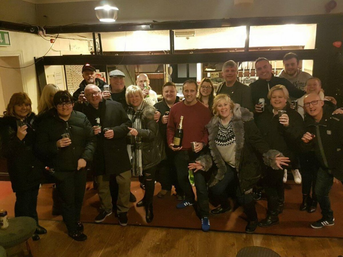 celebrations at the Auctioneers Arms