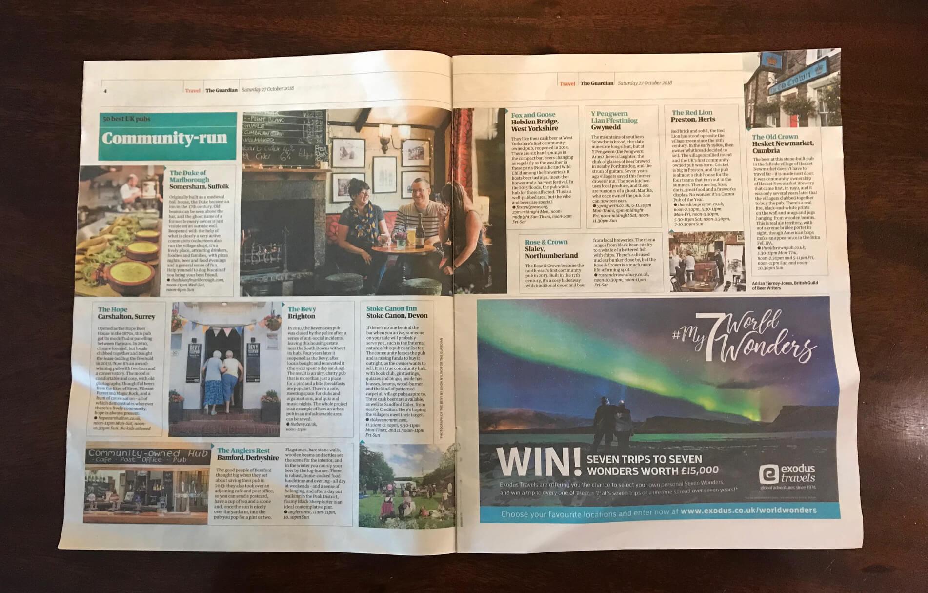 Guardian top 50 pubs